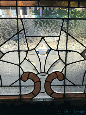 "1890's Victorian Stained Leaded Glass Transom Window 44"" by 24"""