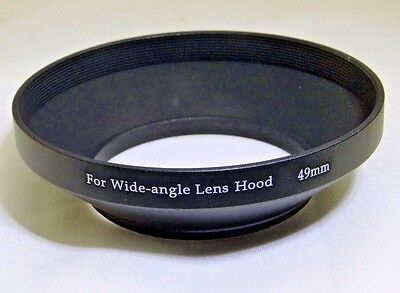 49mm Metal lens hood Wide Angle for 28mm 35mm f2.8 lenses screw in type