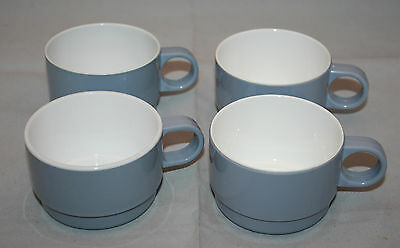 Noritake Japan Airlines 4 Stackable Plastic Flight Tray Small Coffee Cups grey