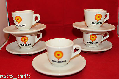 ACF Guglielmo Set of 5 Demitasse Espresso Coffee Cups Saucers Made in Italy