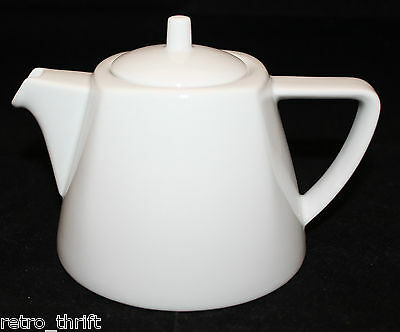 Bauscher Weiden Germany Bavaria White Porcelain Small Tea Pot 12oz 1.5 Cups