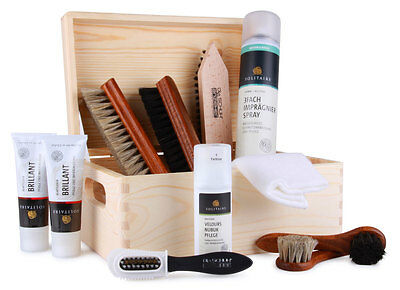 Shoe shine box filled cleaning polishing set care Standard z2211