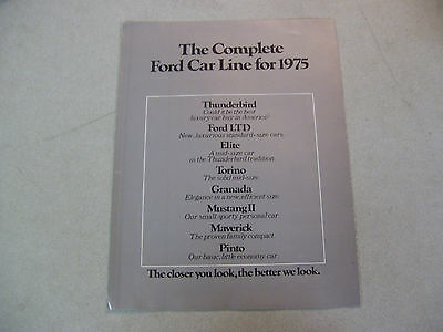 Amazing The Complete FORD Car Line for 1975 Brochure