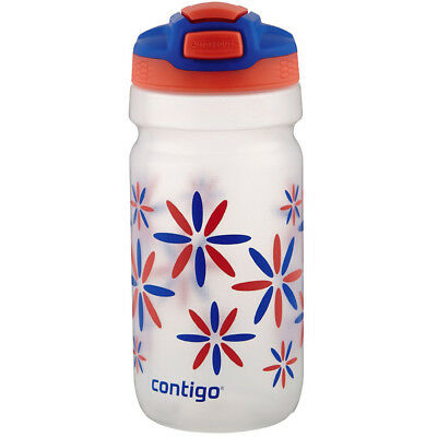 Contigo 18 oz. Kids Squeeze Autospout Water Bottle - Pink Tango Flower Power