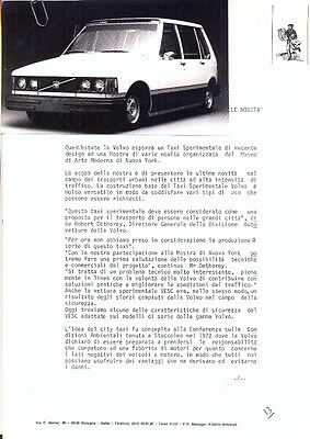 Volvo New York Taxi prototype - original official press photograph + info