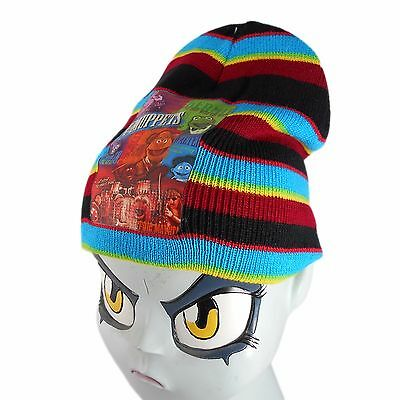 THE MUPPETS Kids Junior Multi Coloured Striped Winter HAT