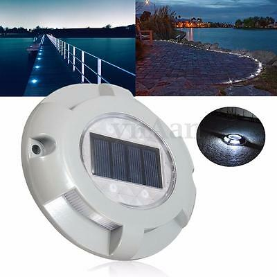 LED Solar Powered Outdoor Driveway Road Light Path Dock Ground Step Stair Lamp
