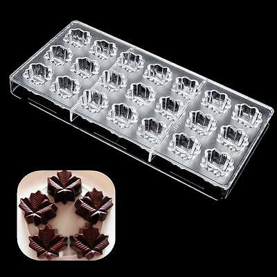 3D Maple Leaf Shape Polycarbonate PC Candy Cookie Ice Cake Chocolate Mold Mould