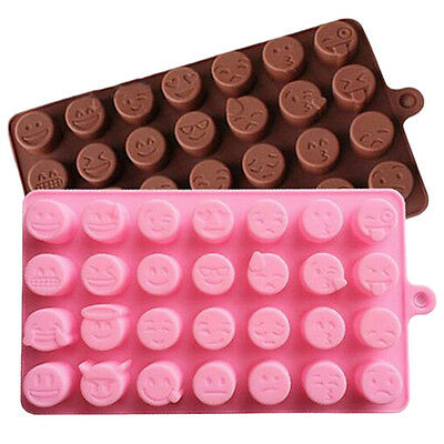 Silicone Moule Gâteau Chocolat Candy Cookie  Ice Baking Mignon 2 Couleurs Vente