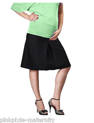 Maternity Pregnancy Lined A Line Office Skirt Smart Black NEW Size 8-20