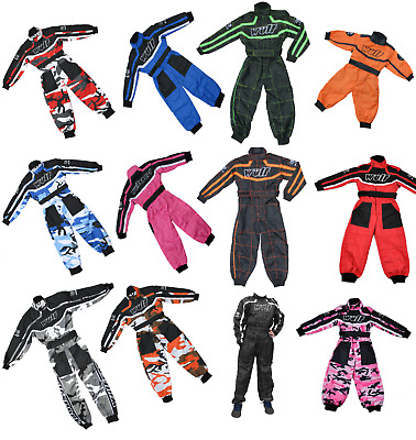 Wulfsport Kids Motocross Karting Suit Wulf MX Youth Child Off Road Overalls