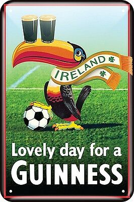 Guinness Ireland Football Toucan embossed metal sign 300mm x 200mm (sg)