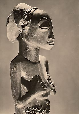 Post Card - African Art / Wooden figure, Luda (Congo)