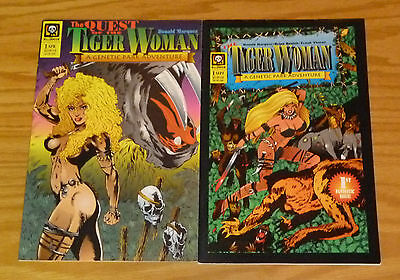 Tiger Woman #1-2 VF/NM complete series - genetic park adventure quest jungle set