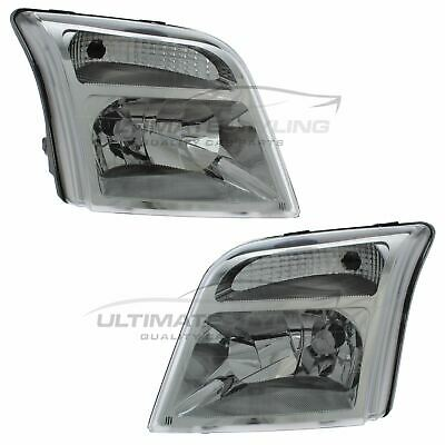 Ford Transit Connect 2002-2013 Chrome Front Headlight Headlamp Pair Left & Right