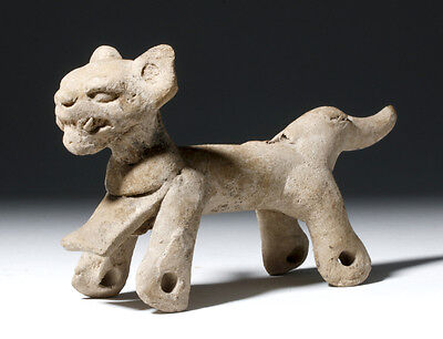 ARTEMIS GALLERY Adorable Veracruz Pottery Whistling Pull Toy - Jaguar