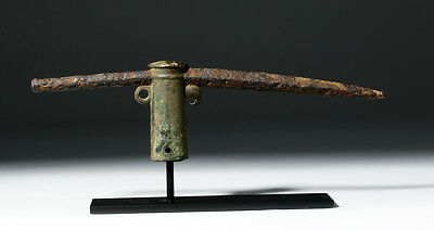 ARTEMIS GALLERY Rare Roman Bronze & Iron Pike with Parrot Decoration
