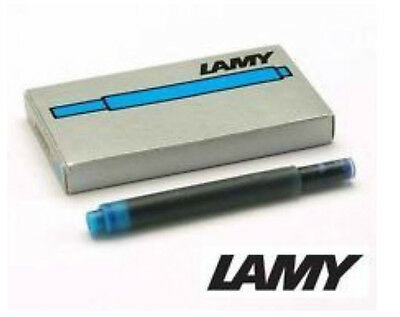 Lamy T10   Turquoise    Ink Cartridges New In Box  5 Cartridges