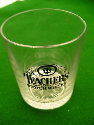 Teachers Highland Cream Scotch whiskey short 6 ounce glass Beam Suntory Scotland