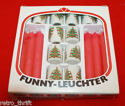 Vintage Funky-Leuchter Funny Design Porcelain Christmas Mini Candle Holders Set