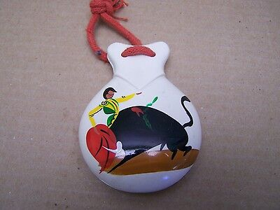 1950s Vintage Mexican Plastic Castanets - Bullfighter - Mexico
