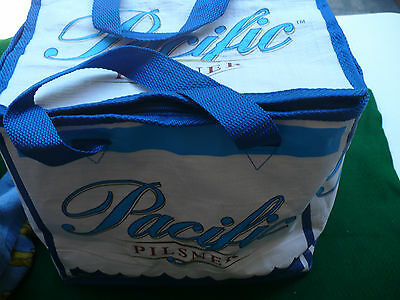PACIFIC pilsner beer carry cooler pack hold 24 Pacific Western brewery Co.
