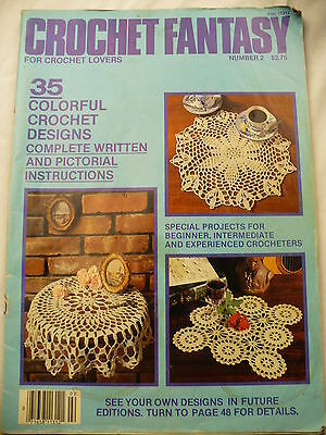 Crochet fantasy tablecloth doily Craft magazine pattern 35 designs