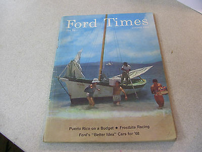 Rare Jan. 1968 FORD Times Magazine