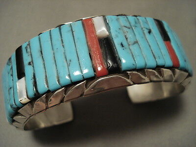 "Museum Vintage Navajo """"loloma Style"""" Turquoise Silver Bracelet"