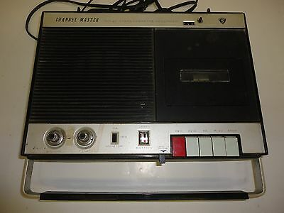 Vintage Channel Master 6309A Solid State Cassette Tape Recorder/Player WORKS