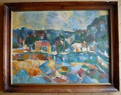 MYSTERY MODERN, ABSTRACTION ABSTRACT EXPRESSIONIST 1960s 60s MOD, SIGNED ECB ?