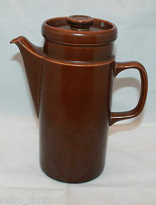 Vintage Wedgwood Sterling Brown Coffee Tea Pot Oven to Table Made in England