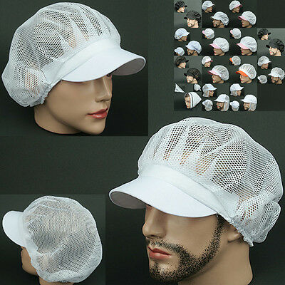 COOK full Mesh WHITE chef catering baker Kitchen food factory Hat