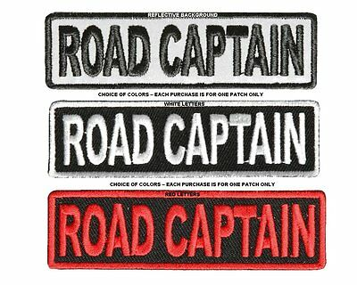 Road Captain Biker Vest Patch * Free Usa Shipping * Choice Of Colors