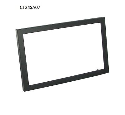 CT24SA07 SAAB 9-5 1997 to 2005 BLACK DOUBLE DIN FASCIA ADAPTER PANEL PLATE