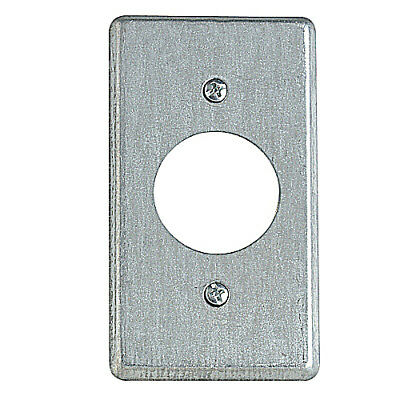 T & B 58C5 Utility Box Cover, Single receptacle, hole dia. 1-13/32 inch - 2 Pack