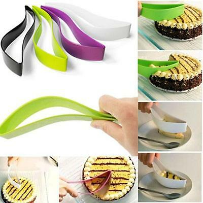 New Durable Plastic Cake Pie Bread Cutter Slicer Knief Cute Tool f.Party Wedding