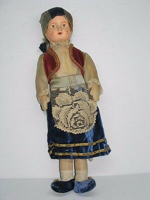 Antique French Composite 17 Inch Straw Stuffed Doll From Local Estate