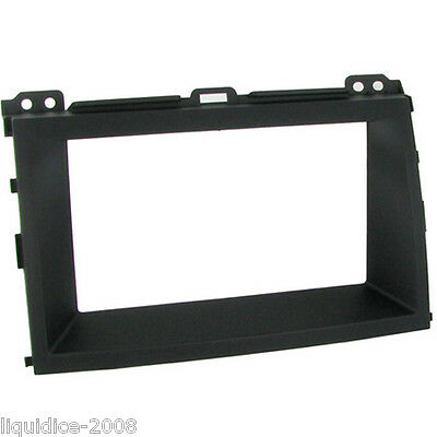 CT24TY23 TOYOTA LANDCRUISER 2002 to 2009 BLACK DOUBLE DIN FASCIA ADAPTER