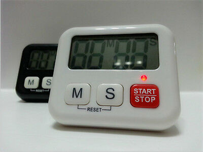 Mini Kitchen Clock Digital LCD Cooking Timer Stopwatch Count-Down Up Clock Alarm