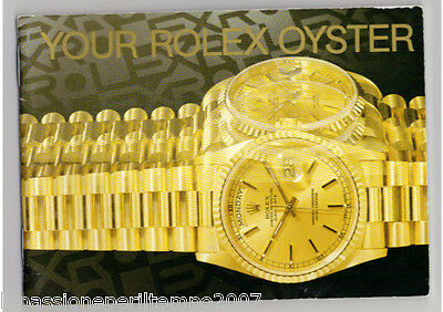 Libretto Booklet Your Rolex Oyster Vintage Varie Italiano Inglese Spagnolo