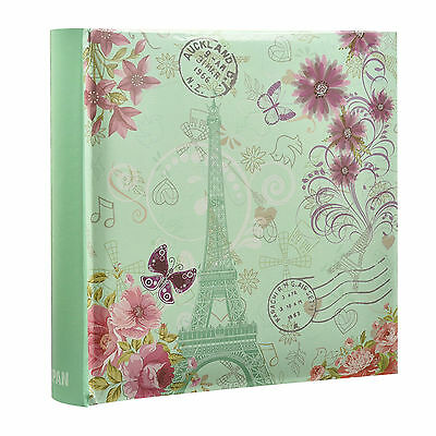 Vintage Butterfly Effiel Tower Slip In Memo Photo Album for 200 Photos - AL-9767