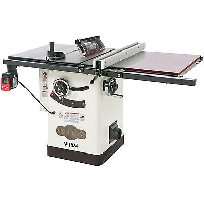 Shop Fox W1824 2 HP 110/220V Pre-Wired 220V Hybrid Table saw with Extension