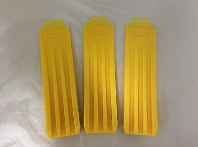 "(3) 12"" Wedges Felling Bucking Falling, High Impact ABS Plastic Great Design!"