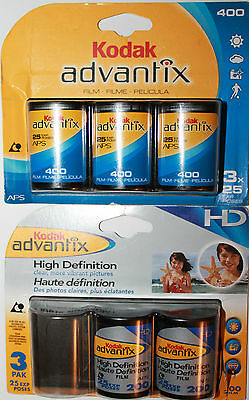 KODAK Advantix APS 3 x 25 Exp. 24mm Film A400 + 2 x 25 Exp. HD A200 Expired 2007