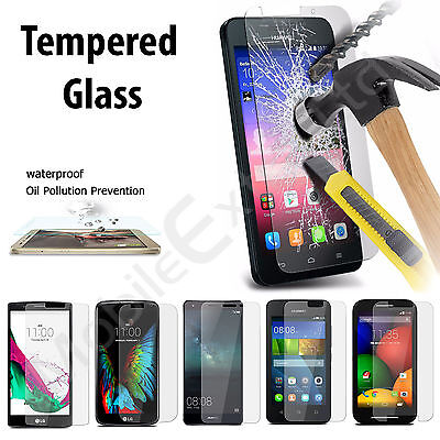 100% Genuine Tough Hard Tempered Glass Screen Protector Cover For Mobile Phones
