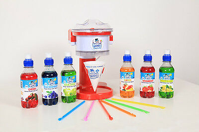 """Home """"Electric"""" Snow Cone and Ice shaver comes with 6 top Flavours Save £12.00"""