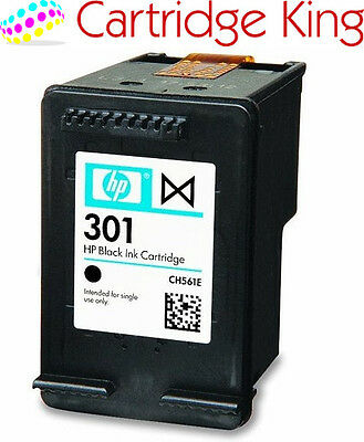 HP Genuine Original 301 Black Ink Cartridge - for HP ENVY 4500