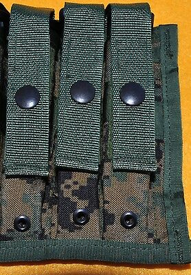 USMC MARPAT Woodland Green digital Triple Magazine pouch for 3  9mm mags MOLLE