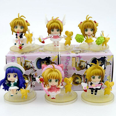 6PCS Cosplay Anime Card Captor Sakura Kinomoto Sakura PVC Figure Toy New in Box